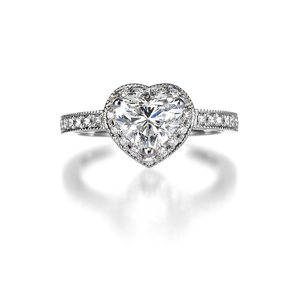 1 Carat Heart Shape Diamond Ring By Mark Hiroshi Willis