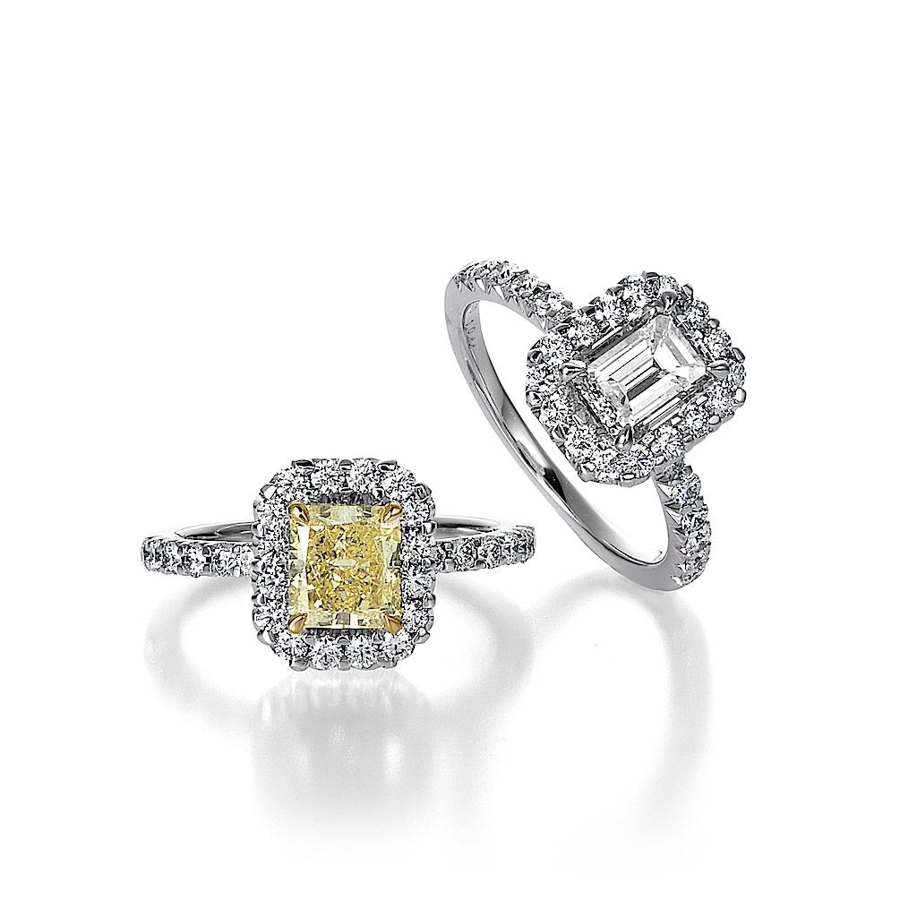 1 Carat Radiant : Emerald Cut Diamond Rings By Mark Hiroshi Willis