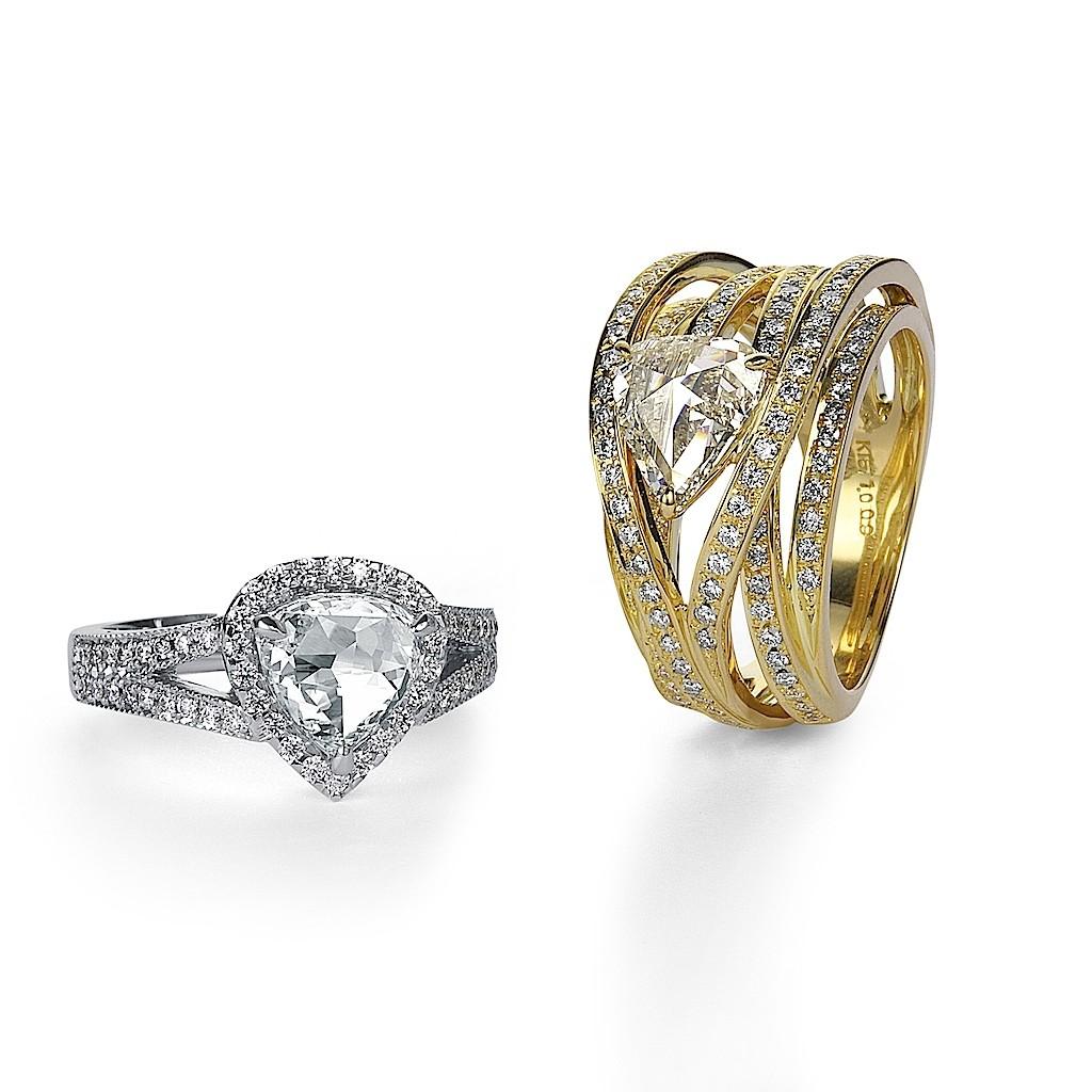 1 Carat Rose Cut Diamond Rings By Mark Hiroshi Willis