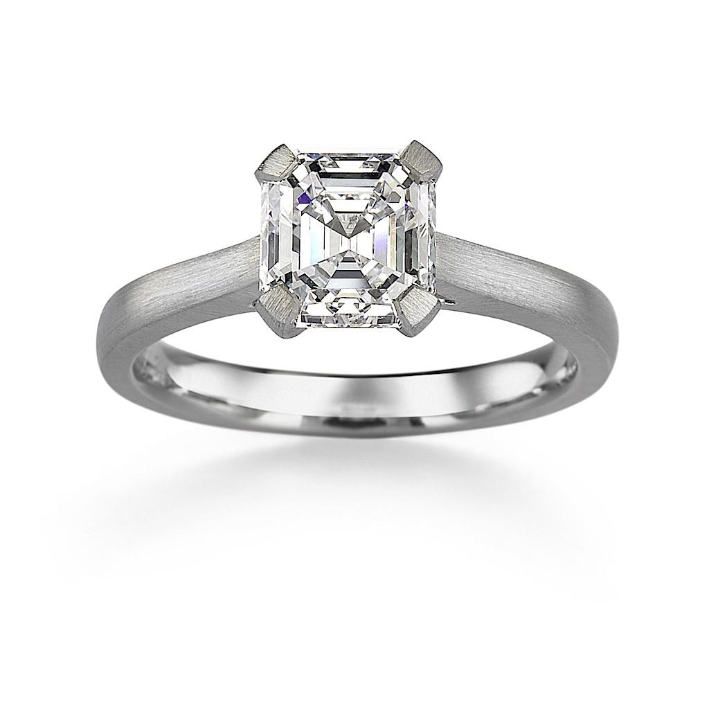 1.32 Carat Asscher Cut Diamond Ring By Mark Hiroshi Willis