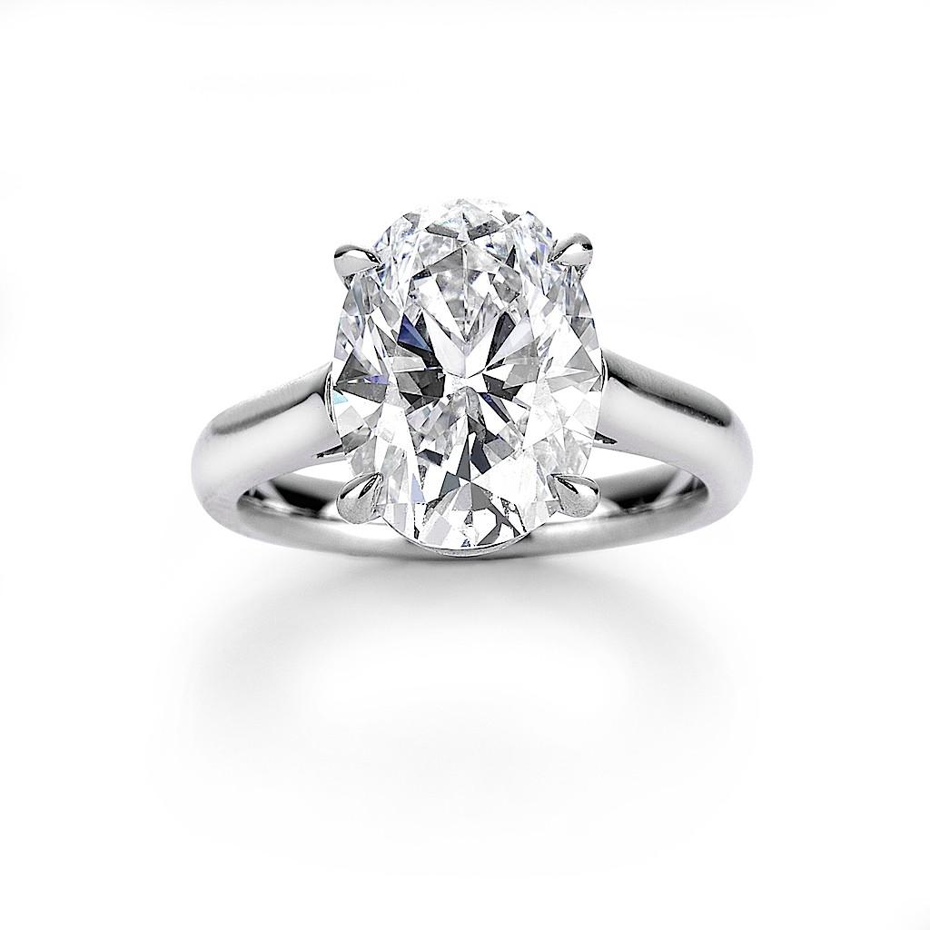 2.34 Carat Oval Diamond Ring By Mark Hiroshi Willis