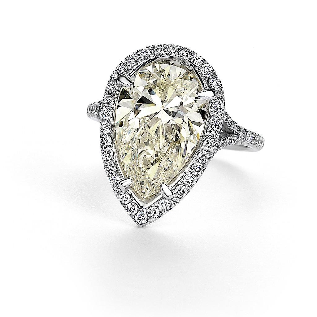 3 Carat Pear Shape Diamond Ring By Mark Hiroshi Willis