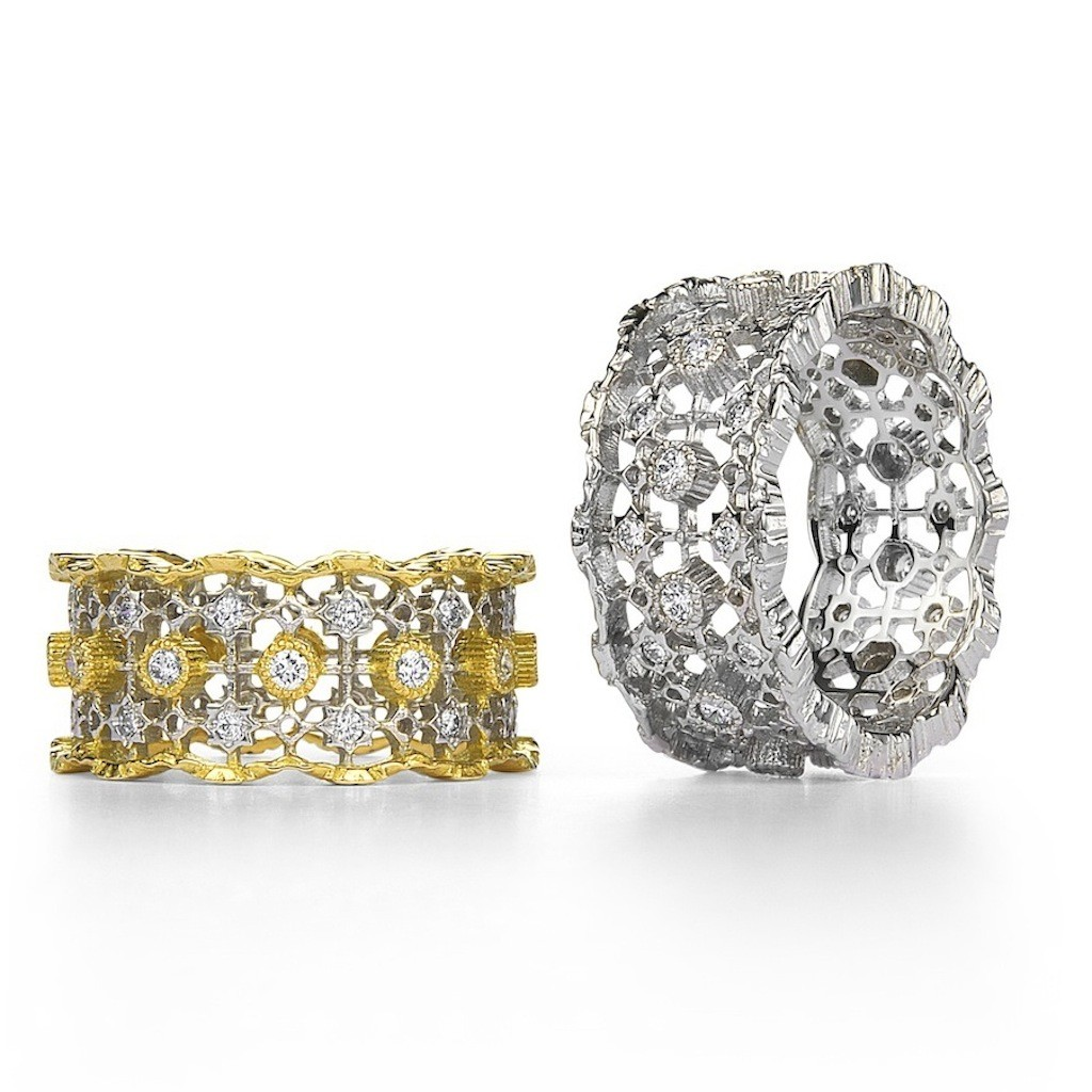 Antique Style Lace Diamond Ring (Curve) by Mark Hiroshi Willis