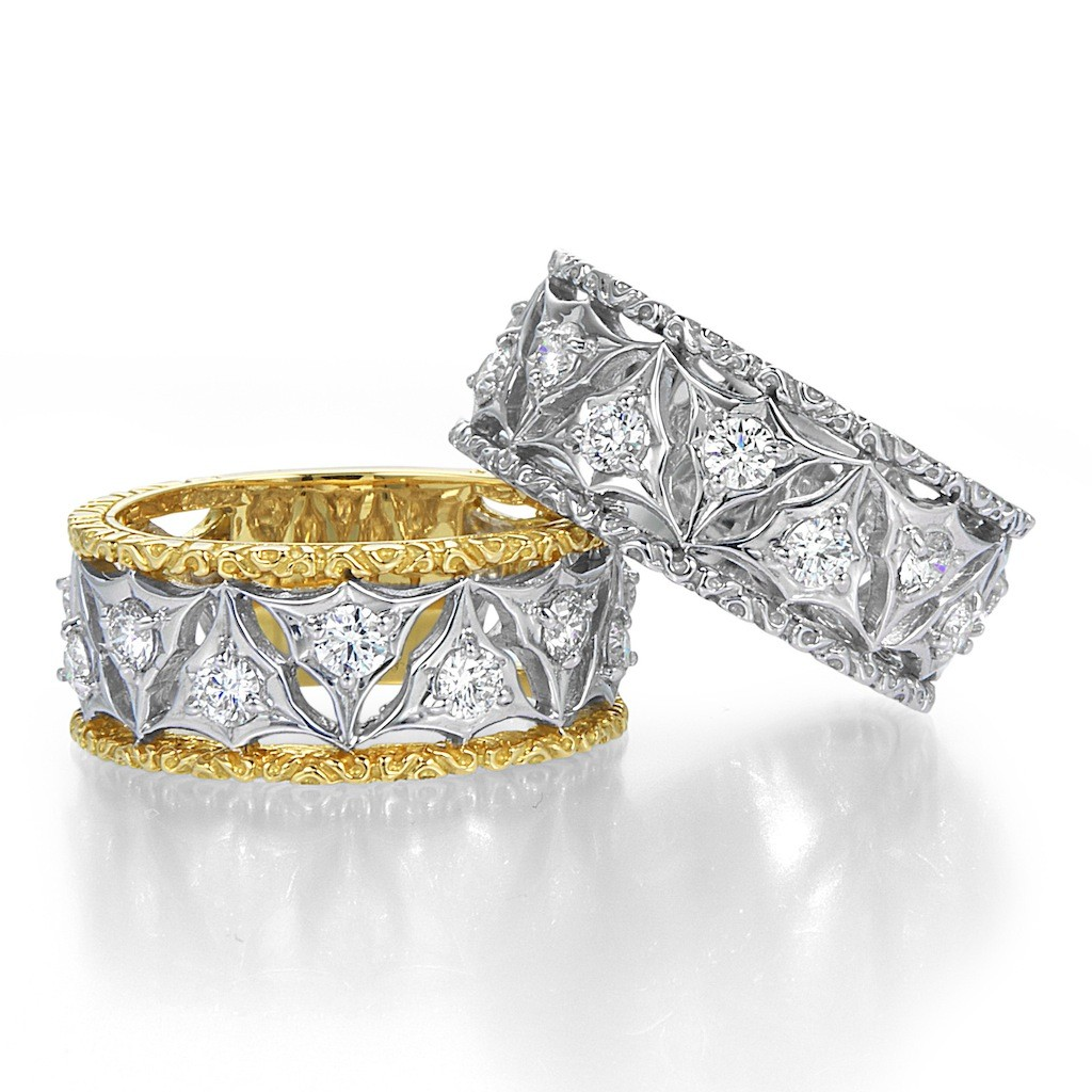 Antique Style Lace Diamond Ring (Tri) by Mark Hiroshi Willis