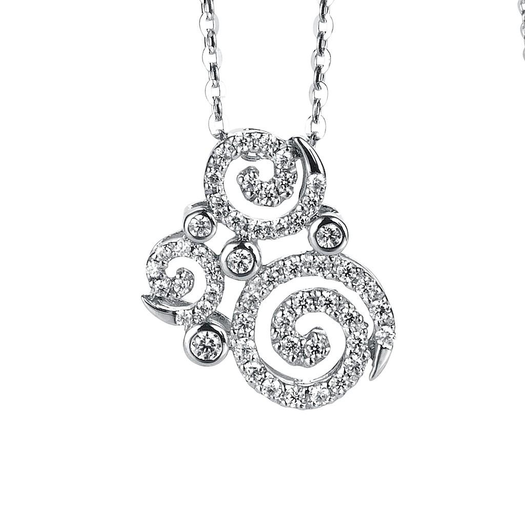 Diamond Swirl Necklace By Mark Hiroshi Willis