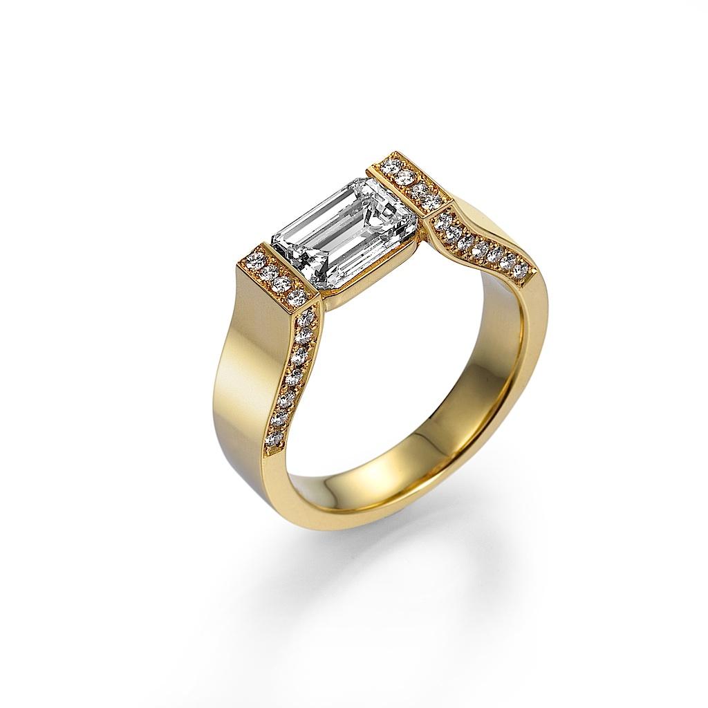 Emerald Cut Diamond Ring By Mark Hiroshi Willis