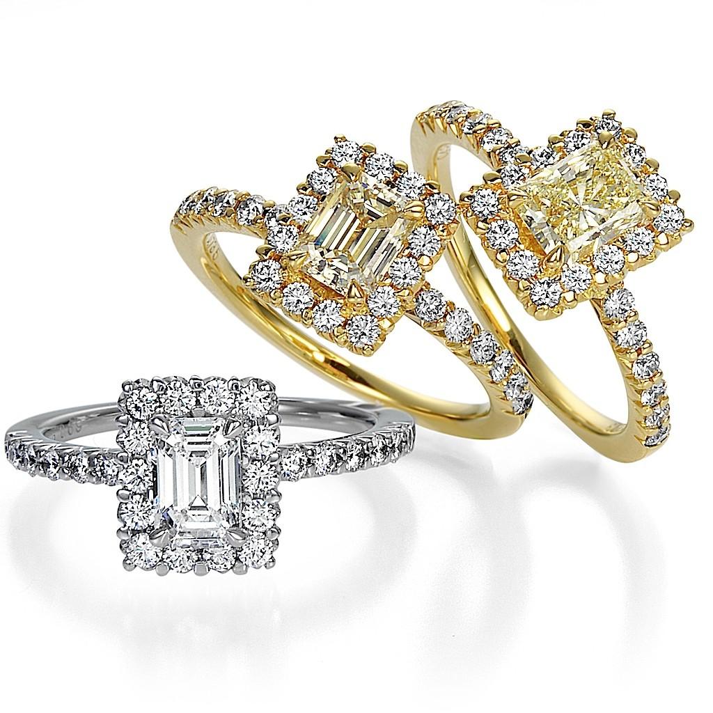 Emerald Cut : Princess Diamond Rings By Mark Hiroshi Willis