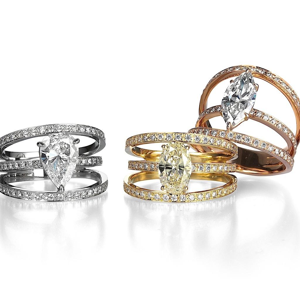 Fancy Cut Diamond Rings By Mark Hiroshi Willis