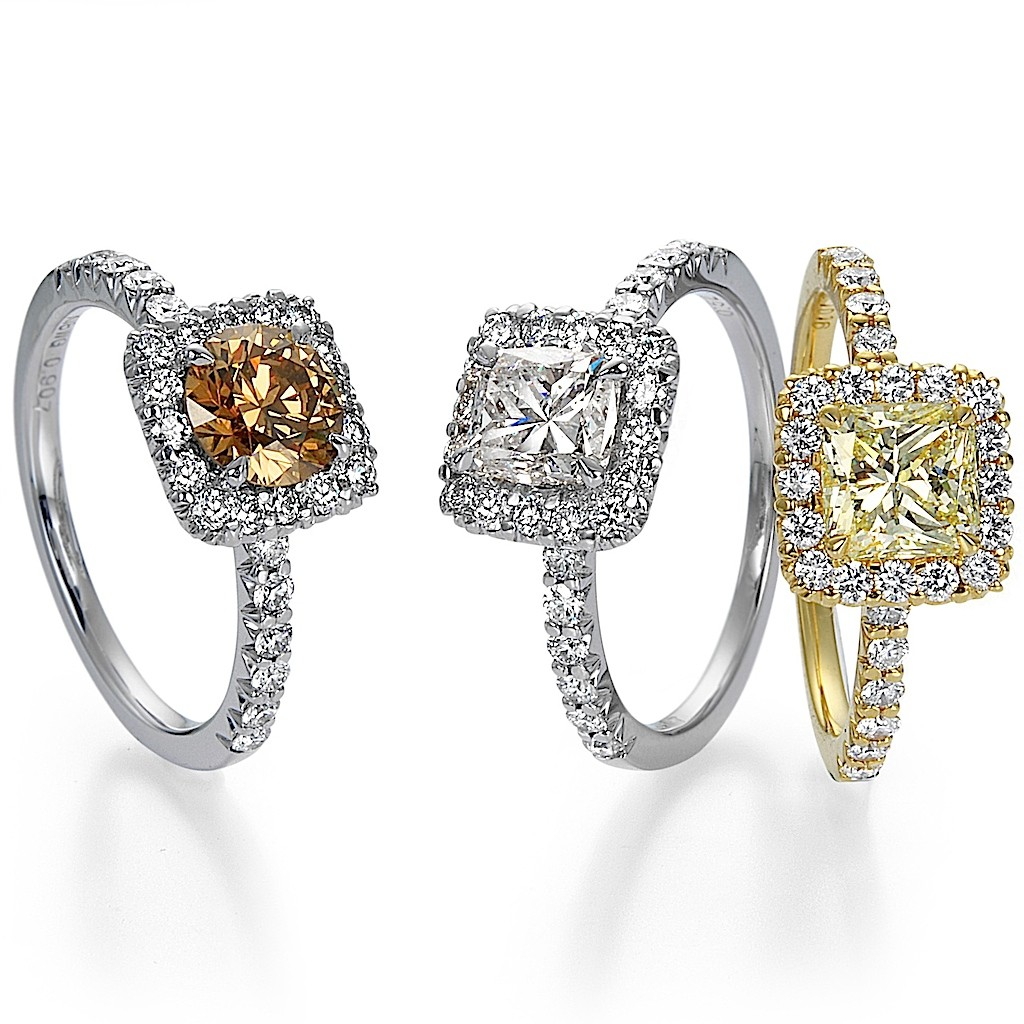 Fancy Diamond Rings By Mark Hiroshi Willis