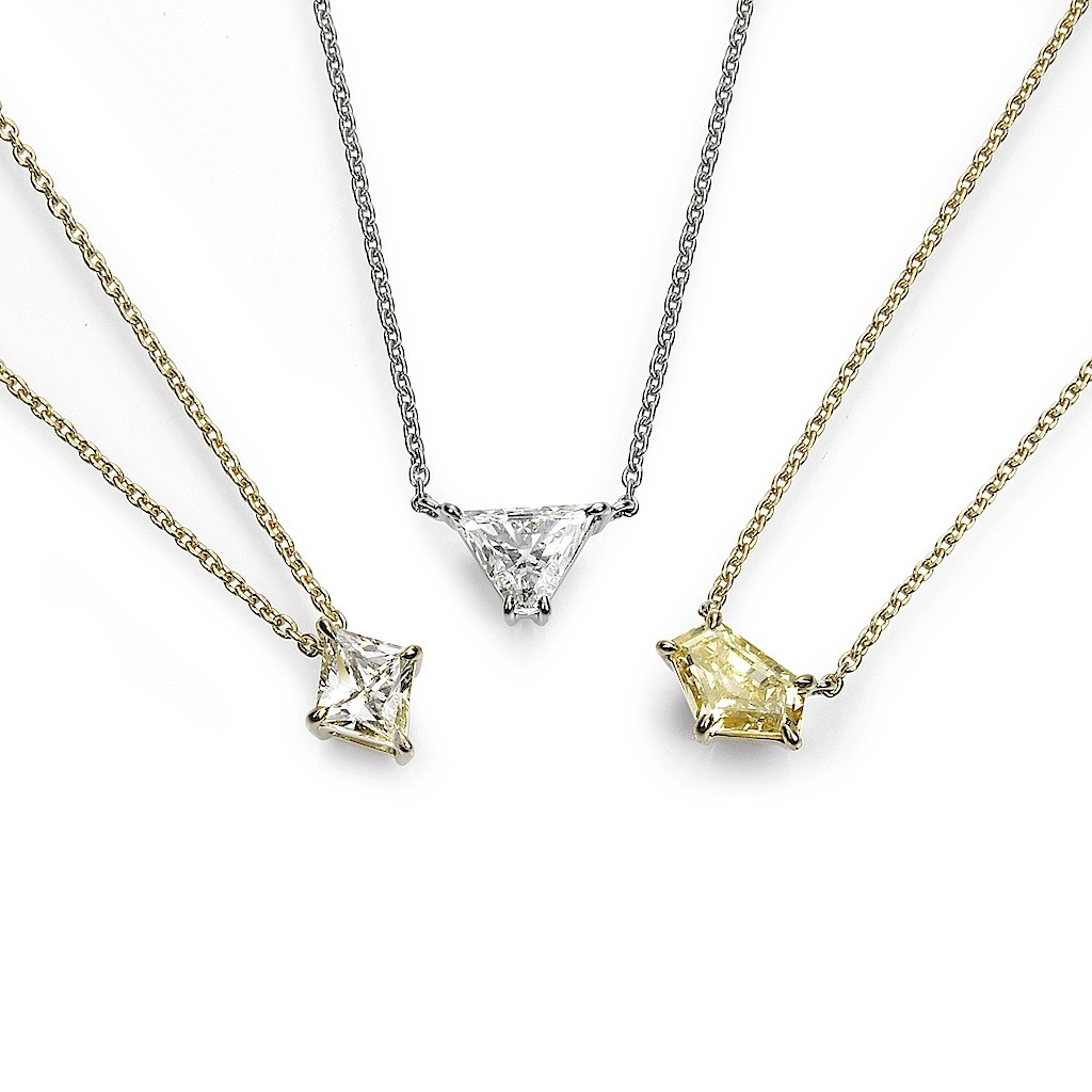 Fancy Cut Diamond Necklaces By Mark Hiroshi Willis