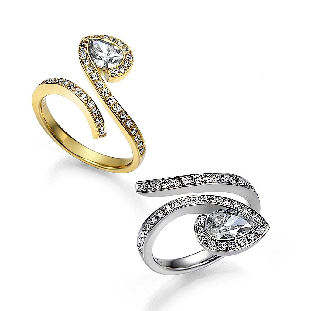 Pear Shape Diamond Rings By Mark Hiroshi Willis