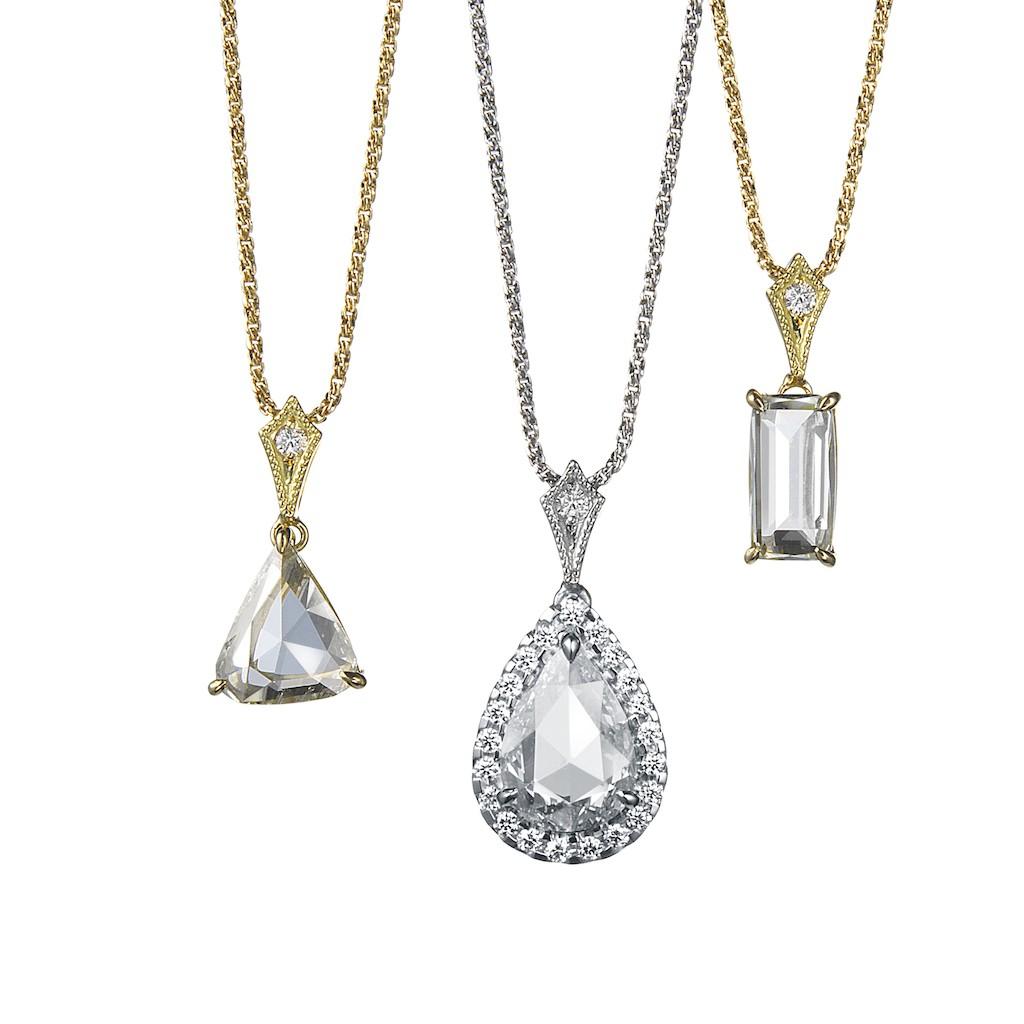 Rose Cut Diamond Necklaces by Mark Hiroshi Willis