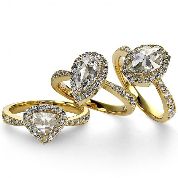 Rose Cut Diamond Rings by Mark Hiroshi Willis