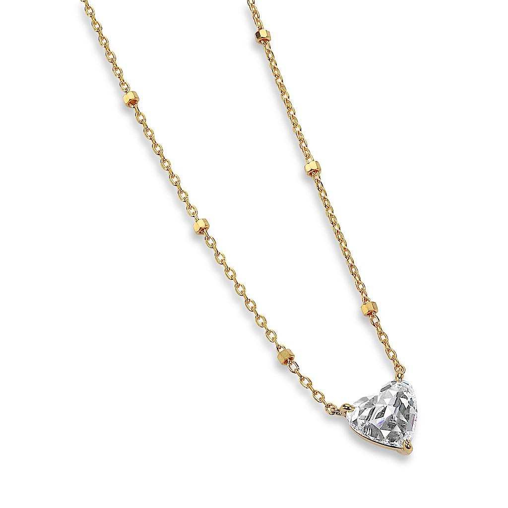 1 Carat Rose Cut Heart Diamond Necklace by Mark Hiroshi Willis