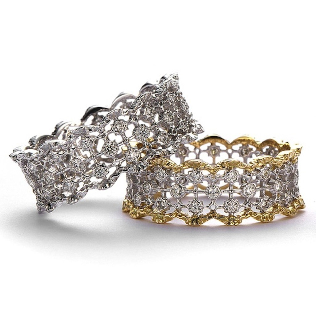 Small Antique Style Lace Diamond Ring (Curve) by Mark Hiroshi Willis