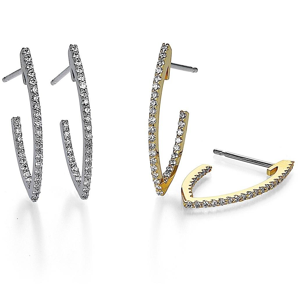 V Hoop Diamond Pierce By Mark Hiroshi Willis