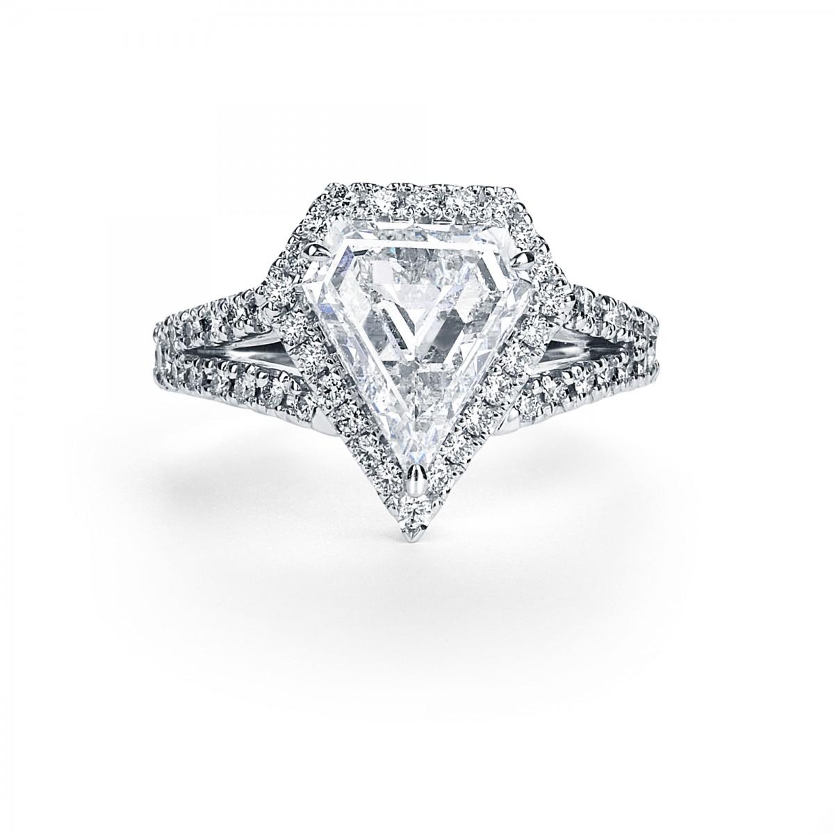 2ct Kite Shape Diamond Ring By Mark Hiroshi Willis
