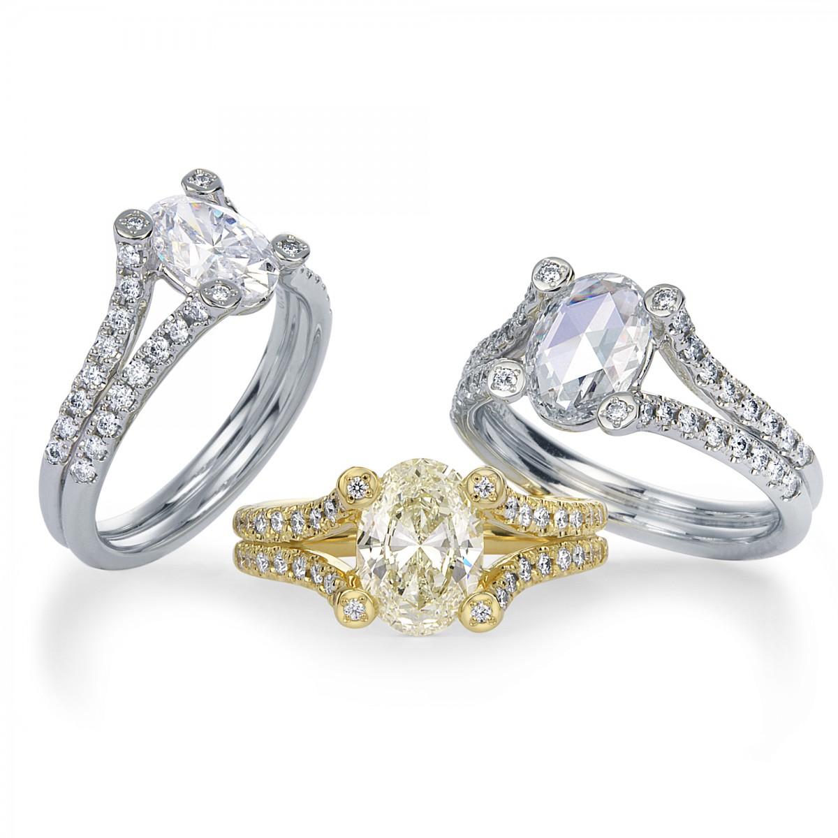 Oval Cut Diamond Rings By Mark Hiroshi Willis