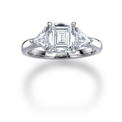 Internally Flawless Emerald Cut Diamond Ring