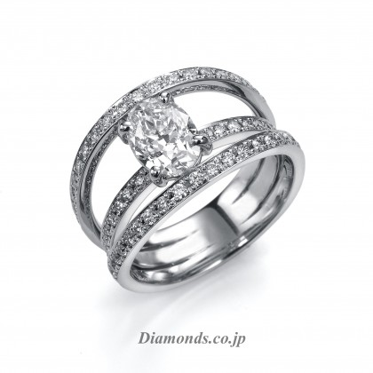 D Color VVS 1 Clarity Oval Diamond Ring Tokyo Japan