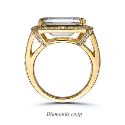 15 Carats, Internally Flawless (IF) Emerald Cut Diamond Ring